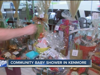to a community baby shower that was held monday night in kenmore