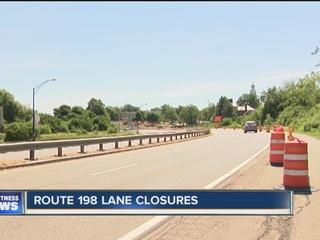 Part of Route 198 closed until 2:00 p.m.
