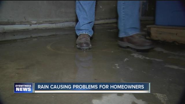 heavy rains causing headaches for homeowners