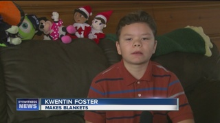 10-year-old boy makes 400 blankets for sick kids