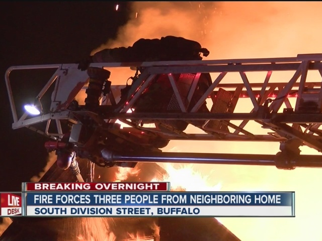 Two homes damaged at S  Division St 2-alarm fire
