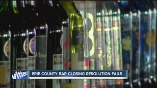 Bar resolution fails in Erie County