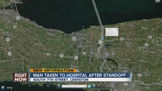 Lewiston man rushed to hospital after standoff
