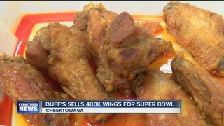 Duff's sells 400,000 wings for the Super Bowl
