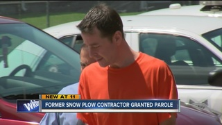 Former snow plow contractor granted parole