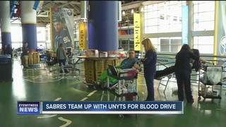 Sabres team up with Unyts for blood drive
