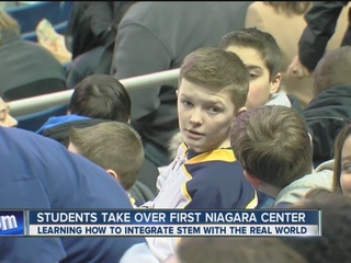 Student invasion at First Niagara Center