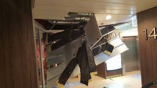 Pics show damage aboard storm-tossed cruise ship