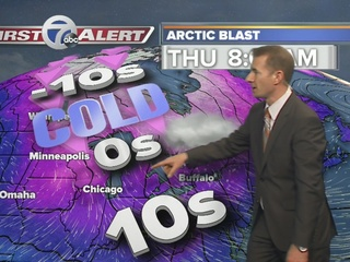 Coldest week of winter coming, plus lake snow