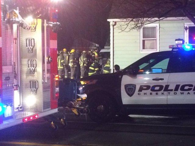 Car drives into Cheektowaga home, driver trapped