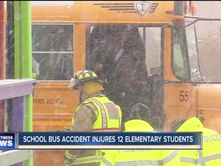 School bus accident injures 12 elementary kids