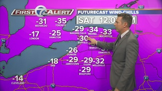 Wind chills below zero this weekend