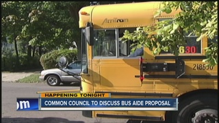 Common Council to discuss bus aide proposal