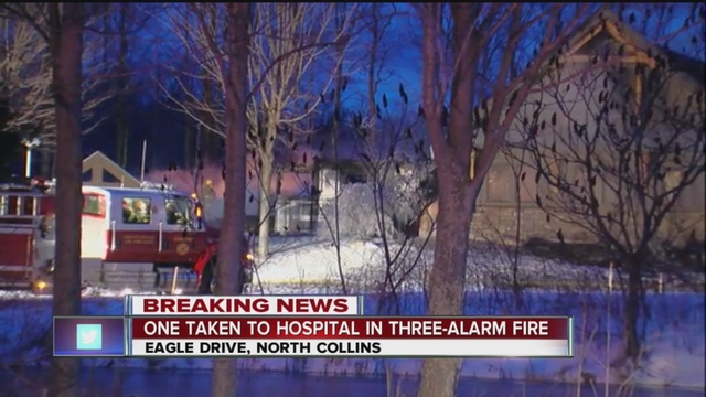 3-alarm fire consumes house building company