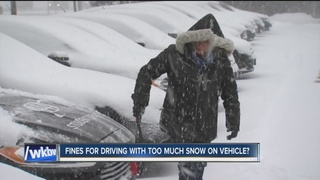Should drivers be fined for having snow on car?