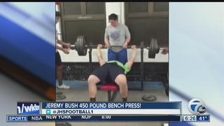 Jamestown junior benches 450 pounds