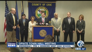Erie County to hold opiod Town Hall Meeting