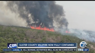 Catskill wildfire now fully contained