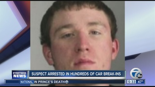 Man arrested in string of car break-ins