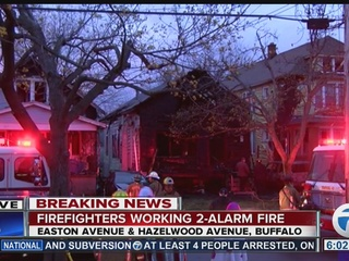 Buffalo firefighters work overnight 2-alarm fire