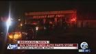 Van crashes into auto parts store