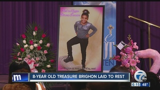 8-Year old Treasure Brighon laid to rest