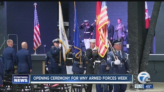 Opening ceremony held for WNY Armed Forces Week