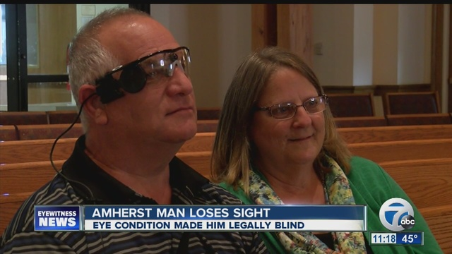Amherst man regains vision with