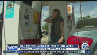 Gas prices increase for third consecutive week