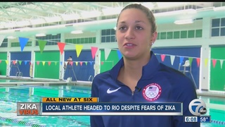 Local athlete heading to Rio despite Zika fears