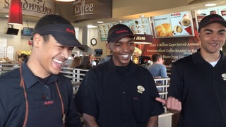 Tim Hortons workers leave customers with a smile