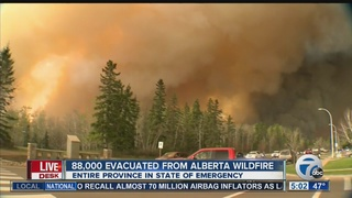 Alberta wildfire rages on
