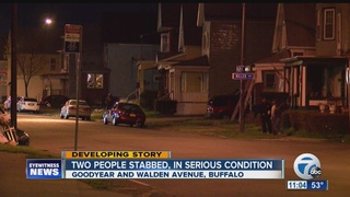 Two people stabbed on Buffalo's east side