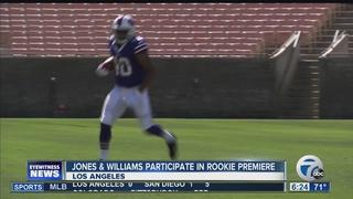 QB Jones & RB Williams hit field in LA