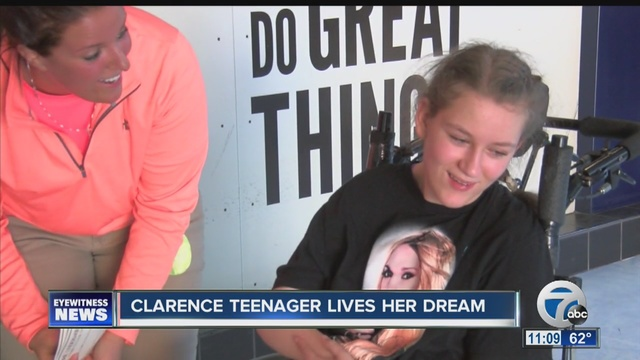 It's a dream come true for young Clarence girl