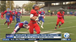 McDuffie Decommits from Syracuse, heads to BC