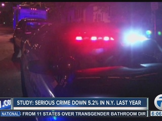 NY reports serious crime down 5.2% last year
