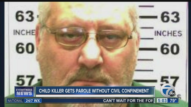 Kid killer gets parole w/o civil confinement