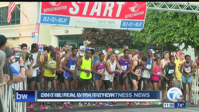 Heat didn't stop runners in Buffalo