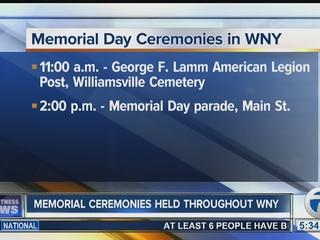 Memorial Day ceremonies in WNY