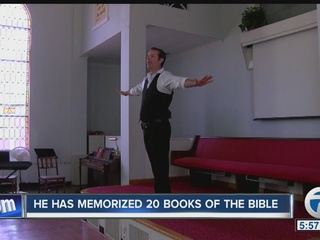 He has memorized 20 books of the Bible