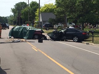 70-yr old woman dies after two-car accident
