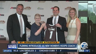 Bonnies introduce Fleming as coach
