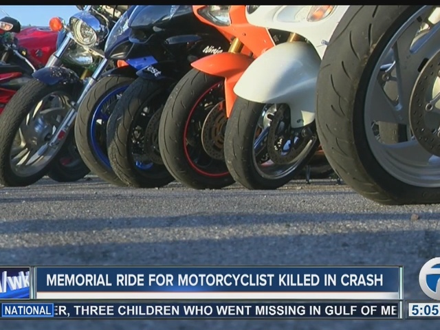 Memorial ride for man killed in motorcycle crash