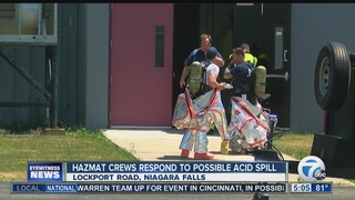 HAZMAT responds to acid reaction in Wheatfield