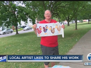 Local painter is a one-man art gallery