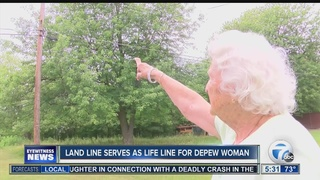 Depew woman upset with landline service