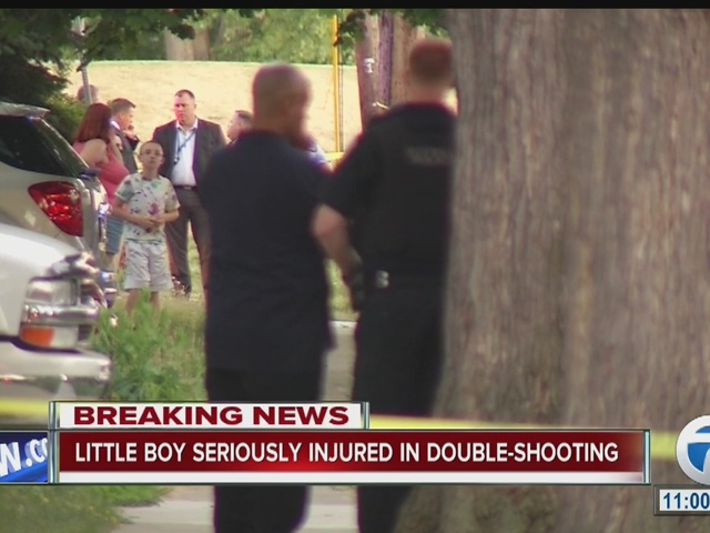 Little boy seriously injured in double shooting