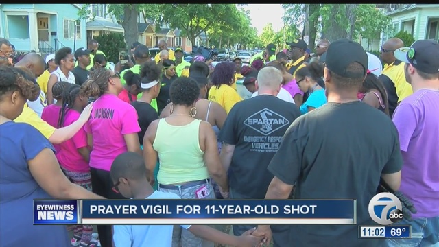 Community prays for 11-year-old shot in Buffalo
