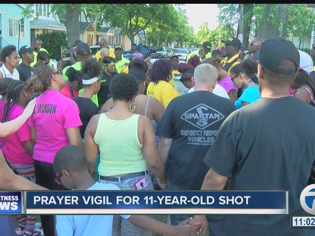 Prayer vigil takes place for 11-year-old who was shot